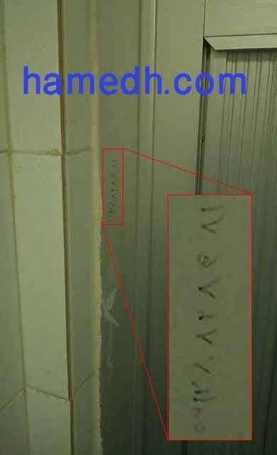 شماره تلفن در دستشویی مردانه